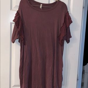 Cute ruffle sleeve dress